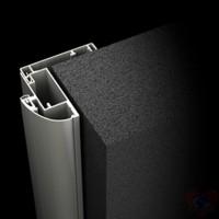 Коробка алюминий для стеклянной двери К2