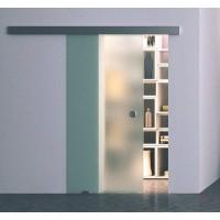 Одинарная раздвижная стеклянная дверь Лайт - комплект
