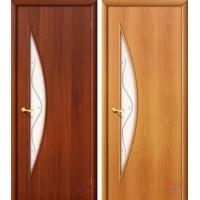 Дверь ламинированная 4С5Ф - остекленная