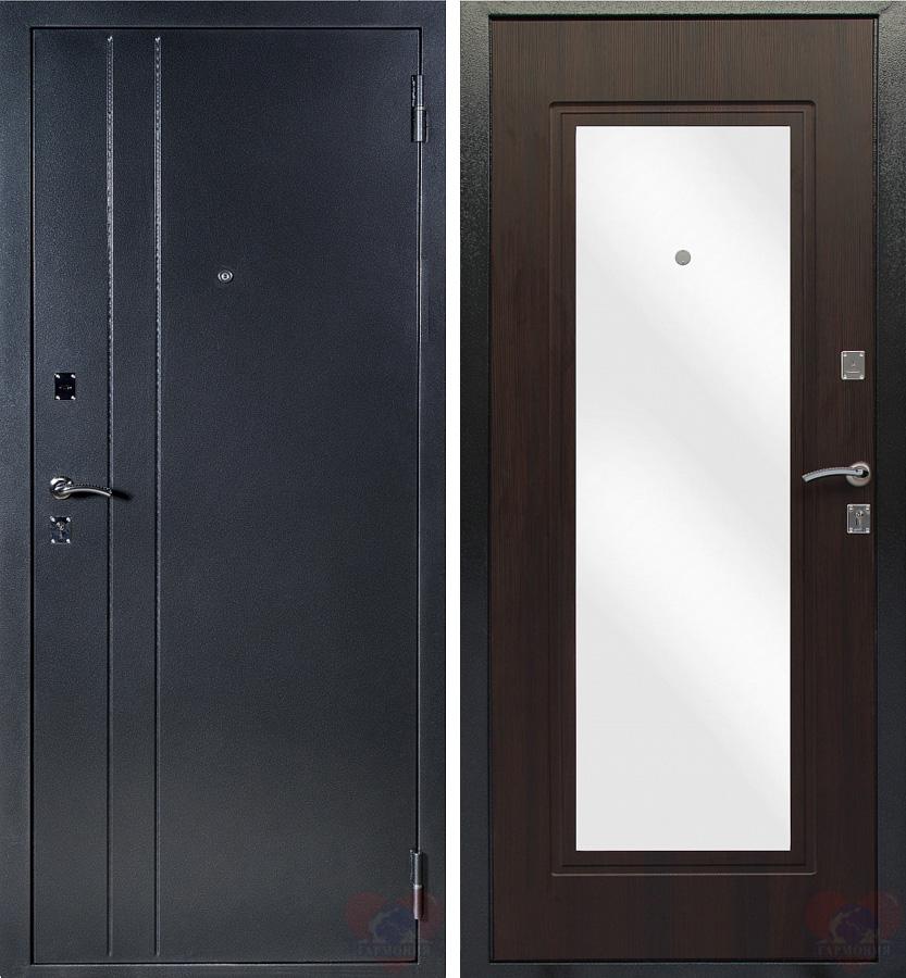 дверь входная уличная венге с зеркалом