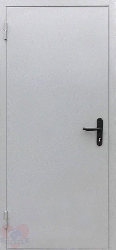 дверь железная противопожарная шагрень белый