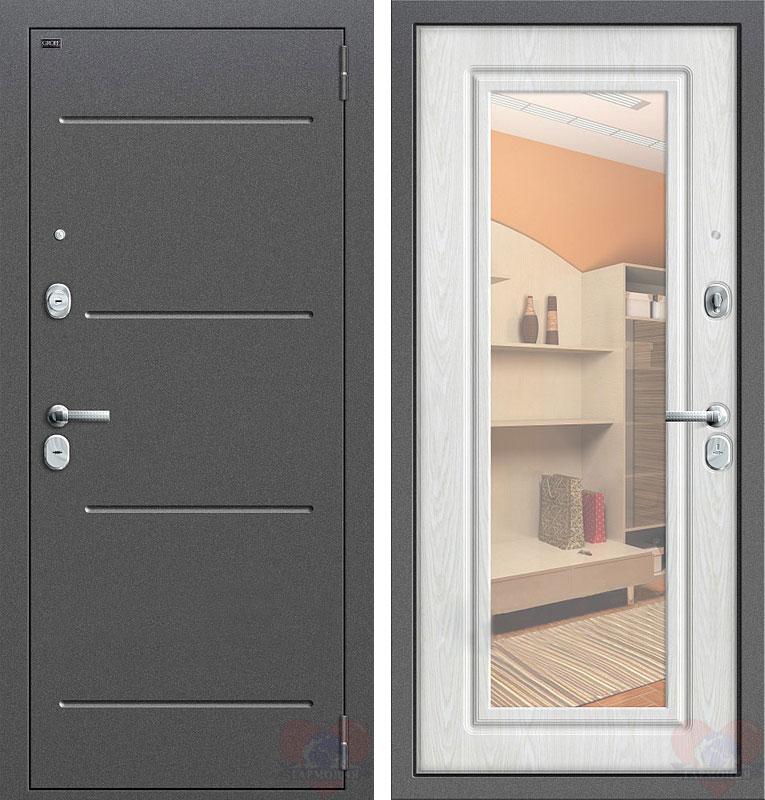 входные металлический двери с зеркалом