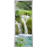 Межкомнатная стеклянная дверь Водопад