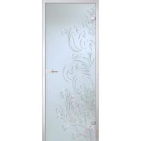 Дверь стеклянная межкомнатная Лилия