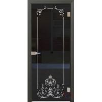 Дверь стеклянная межкомнатная Прима - Стекло прозрачное серое