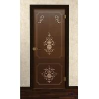 Дверь стеклянная межкомнатная Фаон - Стекло бронза матовое