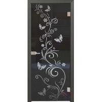 Дверь стеклянная межкомнатная Махаон - Стекло прозрачное серое