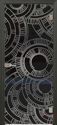 Дверь стеклянная межкомнатная Приор - Стекло прозрачное серое