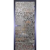 Дверь стеклянная межкомнатная Mirra - Обои Вязь