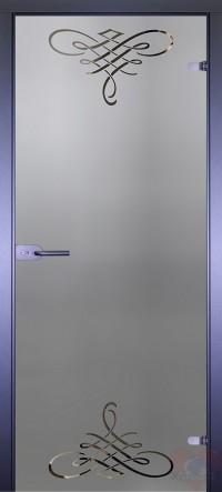Дверь стеклянная межкомнатная Mirra - Вензеля