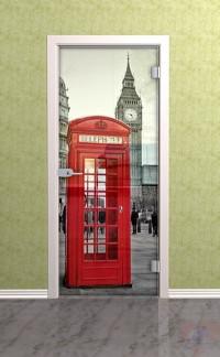 Дверь стеклянная межкомнатная Лондон - Стекло прозрачное