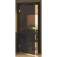 Дверь стеклянная межкомнатная Лайт прозрачное бронза