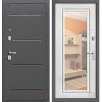 Дверь металлическая Графф Р2-206-П25 Беленый дуб - зеркало