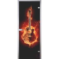 Межкомнатная стеклянная дверь Гитара