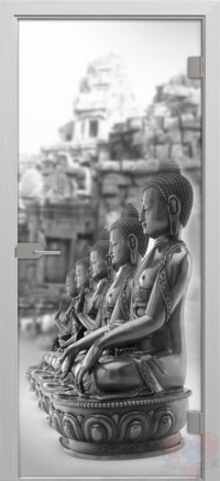 Дверь стеклянная межкомнатная Будда - Стекло матовое