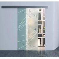 Одинарная раздвижная стеклянная дверь Аврора