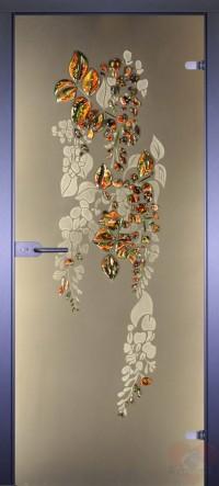 Дверь стеклянная межкомнатная Глициния