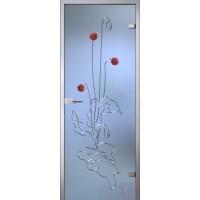 Дверь стеклянная межкомнатная Италия