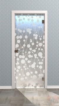 Дверь стеклянная межкомнатная Флос-02 - Стекло матовое