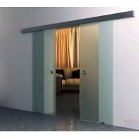 Двойная раздвижная стеклянная дверь Лайт-2 - комплект