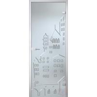 Дверь стеклянная межкомнатная Город