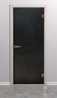 Дверь стеклянная межкомнатная Оптима - Стекло серое матовое