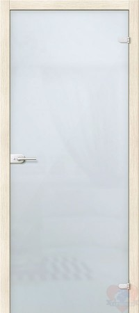 Дверь стеклянная межкомнатная Лайт - Сатинато Белое