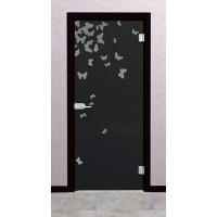 Дверь стеклянная межкомнатная Онис - Стекло серое матовое