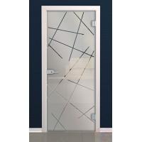 Дверь стеклянная межкомнатная Гравити - Стекло матовое бесцветное