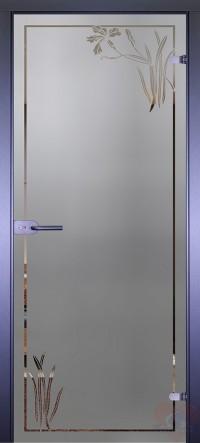Дверь стеклянная межкомнатная Mirra - Ирис