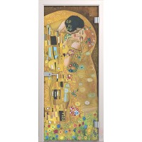 Дверь стеклянная межкомнатная Климт - Стекло прозрачное