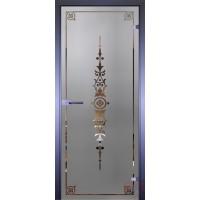 Дверь стеклянная межкомнатная Mirra - Рамка-5