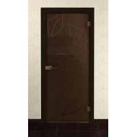 Дверь стеклянная межкомнатная Мела - Стекло бронза матовое