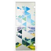 Дверь стеклянная межкомнатная Италия - Стекло матовое