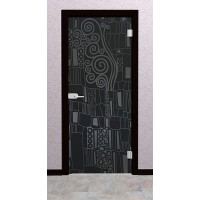Дверь стеклянная межкомнатная Вито - Стекло серое матовое