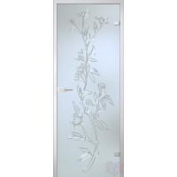 Дверь стеклянная межкомнатная Лизиантус