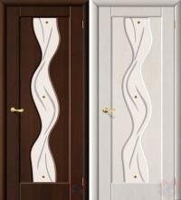Дверь межкомнатная пвх Вираж ДО венге/бел.дуб