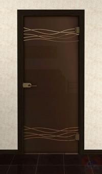 Дверь стеклянная межкомнатная Полла - Стекло бронза матовое