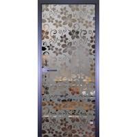 Дверь стеклянная межкомнатная Mirra - Обои цветы