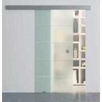 Одинарная раздвижная стеклянная дверь Диана