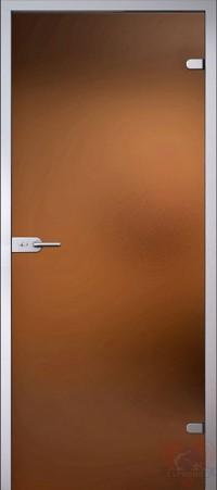 Дверь стеклянная межкомнатная триплекс Бронза матовая