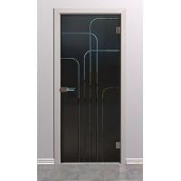 Дверь стеклянная межкомнатная Виа - Стекло серое матовое