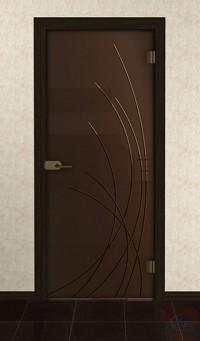 Дверь стеклянная межкомнатная Клео - Стекло бронза матовое