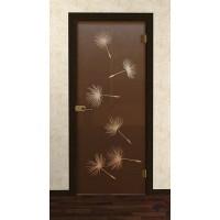 Дверь стеклянная межкомнатная Олео - Стекло бронза матовое